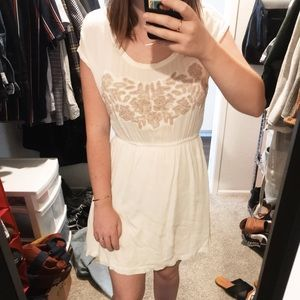 Urban Outfitters White Beaded Dress
